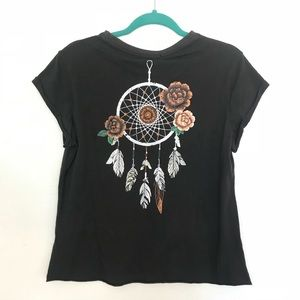Paper Heart Dream Catcher Tee Boho Style Sz L NWT